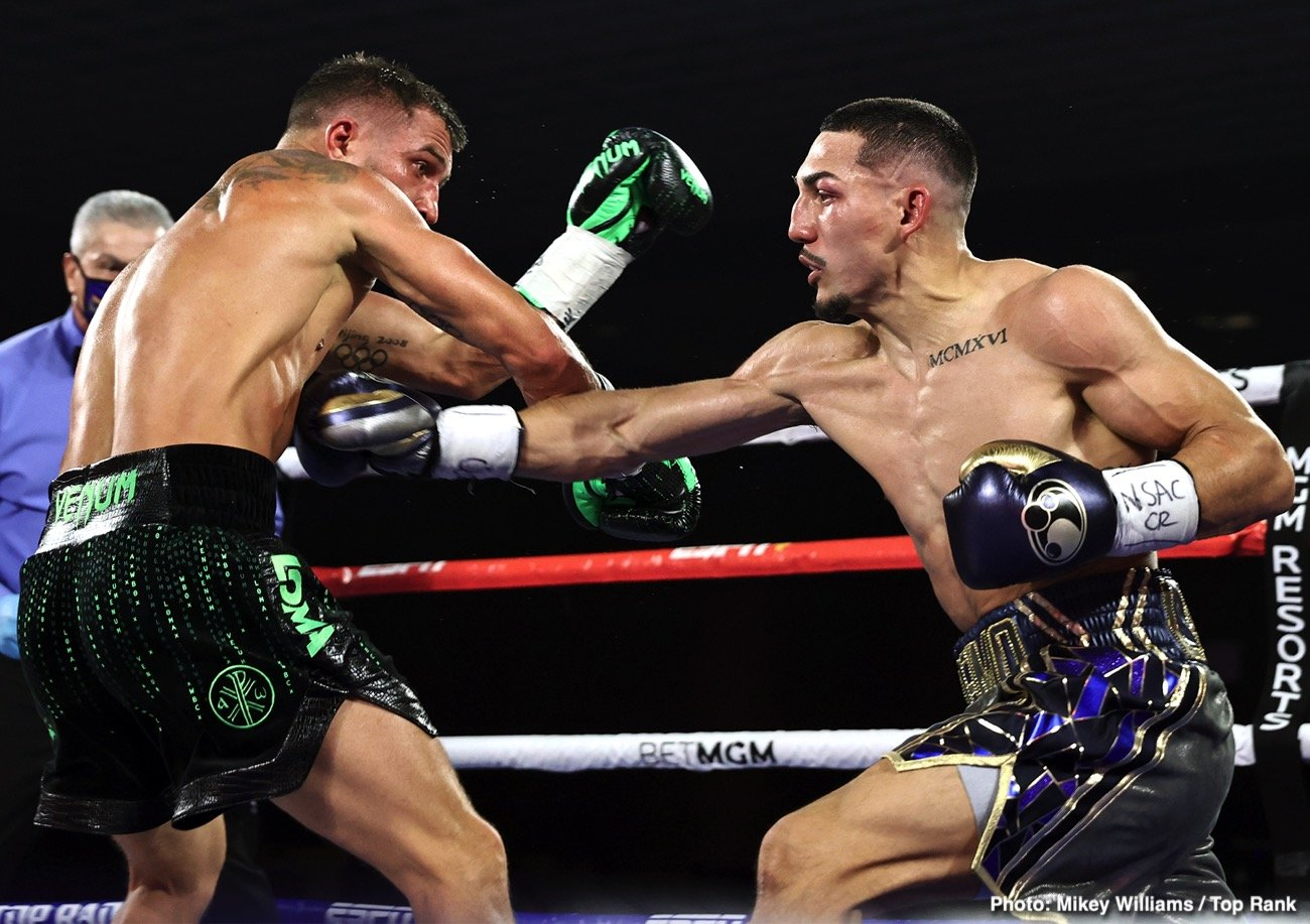 Teofimo Lopez, Vasiliy Lomachenko - Vasily Lomachenko (14-2, 10 KOs) doesn't agree with the scores handed down by the judges in his 12 round unanimous decision defeat to IBF lightweight champion Teofimo Lopez (16-0, 12 KOs) on Saturday night in their unification match at the MGM Grand in Las Vegas, Nevada.