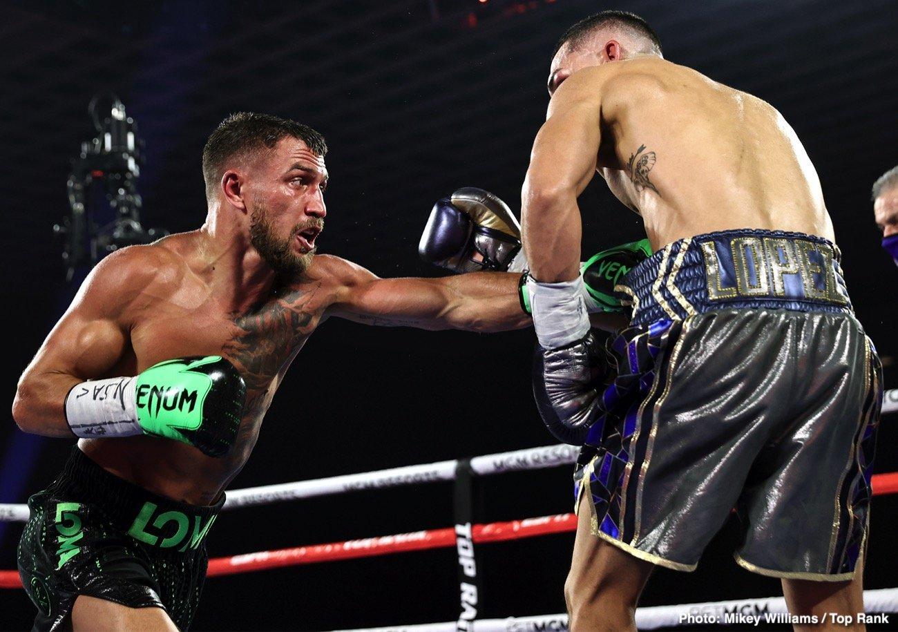 Devin Haney, Ryan Garcia, Teofimo Lopez, Vasiliy Lomachenko - Boxing News