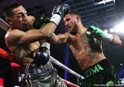 Teofimo Lopez, Vasiliy Lomachenko - There is a new undisputed lightweight king. Teofimo Lopez toppled Vasiliy Lomachenko by unanimous decision in a superstar-making performance Saturday evening from the MGM Grand Conference Center, and in doing so, he became the youngest undisputed champion (23) in the four-belt era.