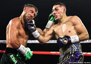 Teofimo Lopez - There is a new undisputed lightweight king. Teofimo Lopez toppled Vasiliy Lomachenko by unanimous decision in a superstar-making performance Saturday evening from the MGM Grand Conference Center, and in doing so, he became the youngest undisputed champion (23) in the four-belt era.