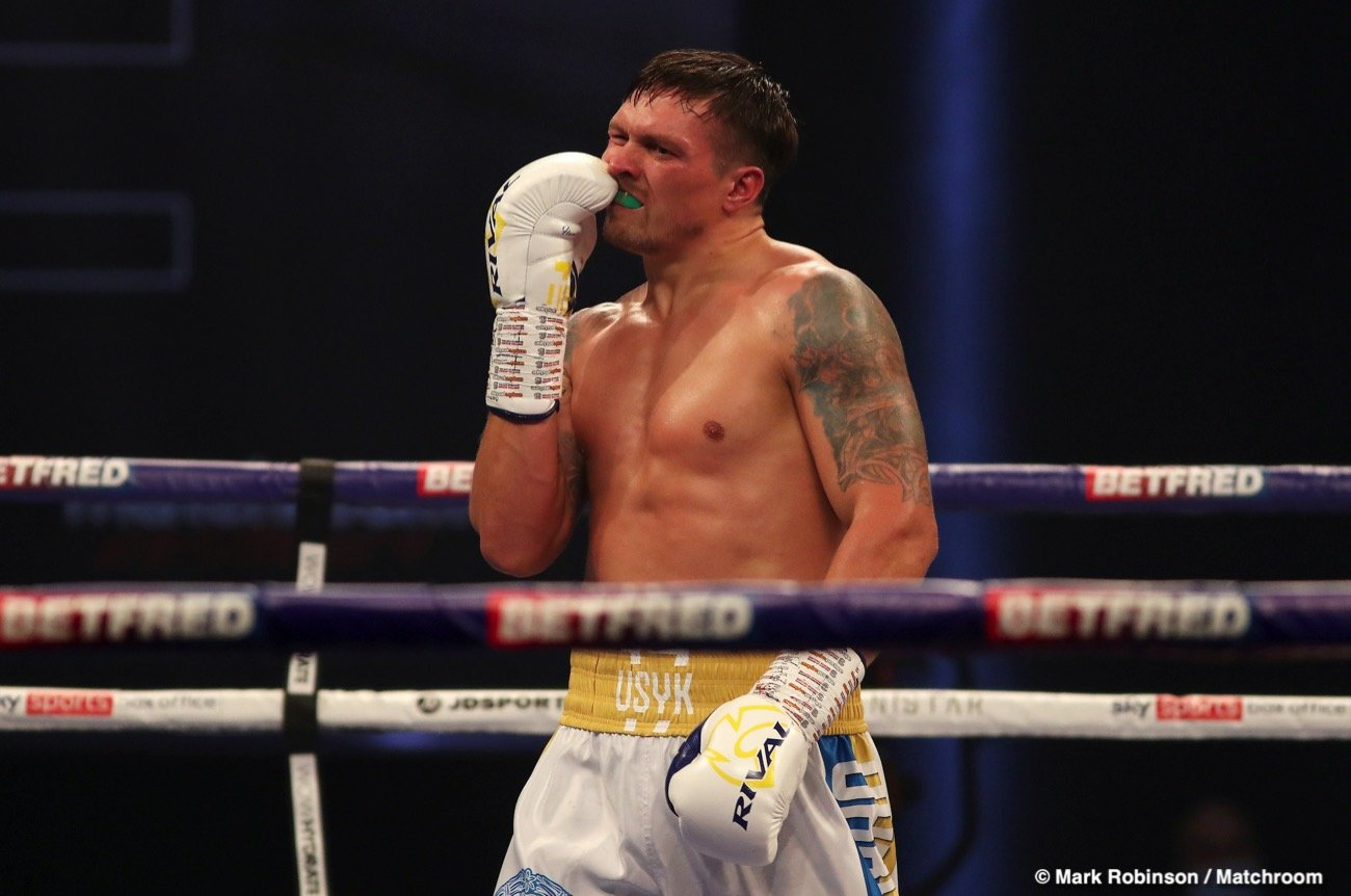 Alexander Usyk, Anthony Joshua, Joe Joyce, WBO - Boxing News