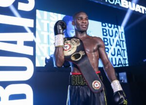 Alen Babic - Croydon's Joshua Buatsi came through the toughest test of his career yet as he stopped tough Croatian Marko Calic in seven brutal rounds to retain his WBA International Light-Heavyweight title in the main event at the Marshall Arena in Milton Keynes, live on Sky Sports in the UK and DAZN in the US.