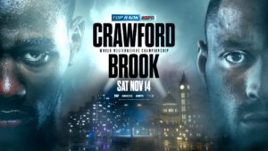 Bob Arum, Kell Brook, Terence Crawford - Bob Arum says the UK fans will be able to watch the Terence Crawford vs. Kell Brook fight live on November 14th, possibly on FITE TV at less than half-price of what they would normally pay for pay-per-view.