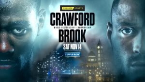 """Andrew Moloney, Joshua Franco, Kell Brook, Terence Crawford - The pound-for-pound king, Terence """"Bud"""" Crawford, is set to return to his throne. Crawford will defend his WBO welterweight world title against former welterweight world champion Kell Brook on Saturday evening from the MGM Grand Las Vegas Bubble."""