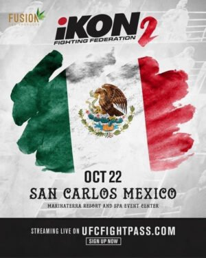 Roy Jones Jr. -  Roy Jones Jr. (RJJ) Boxing Promotions and iKON Fighting Federation (iKON) have announced a professional boxing and mixed martial arts doubleheader on Thursday night, October 22, at Marinaterra Hotel Spa in San Carlos, Sonora, Mexico.