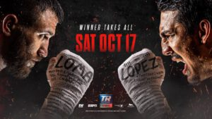 Vasiliy Lomachenko -  FITE, the premier global digital platform for sports and entertainment, announced today that they have acquired the exclusive rights in the UK for the upcoming October 17th Top Rank Pay-Per-View boxing event: Vasiliy Lomachenko (14-1, 10 KOs) vs. Teofimo Lopez (15-0, 12 KOs).