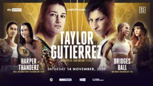 Rachel Ball - Matchroom will promote the first-ever women's World Title triple-header on Saturday, November 14, with Katie Taylor, Terri Harper, and Rachel Ball, all starring in an historic evening of boxing shown live on Sky Sports in the UK and DAZN in the US.