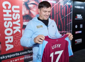 Alexander Usyk - West Ham United winger Andriy Yarmolenko is hoping to lead a memorable Ukrainian sporting double this evening.
