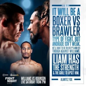 Demetrius Andrade - LIAM WILLIAMS POSSESSES the power and tools to part Demetrius Andrade from his WBO world middleweight title, according to shared foe Alantez Fox.