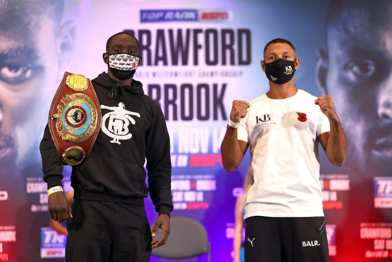 Chris Eubank Jr, Kell Brook, Terence Crawford - Chris Eubank Jr isn't taking tonight's fight seriously between WBO welterweight champion Terence Crawford (36-0, 27 KOs) and Kell Brook (39-2, 27 KOs), as he views the fight as a mismatch and little more than a warm-up for Terence.