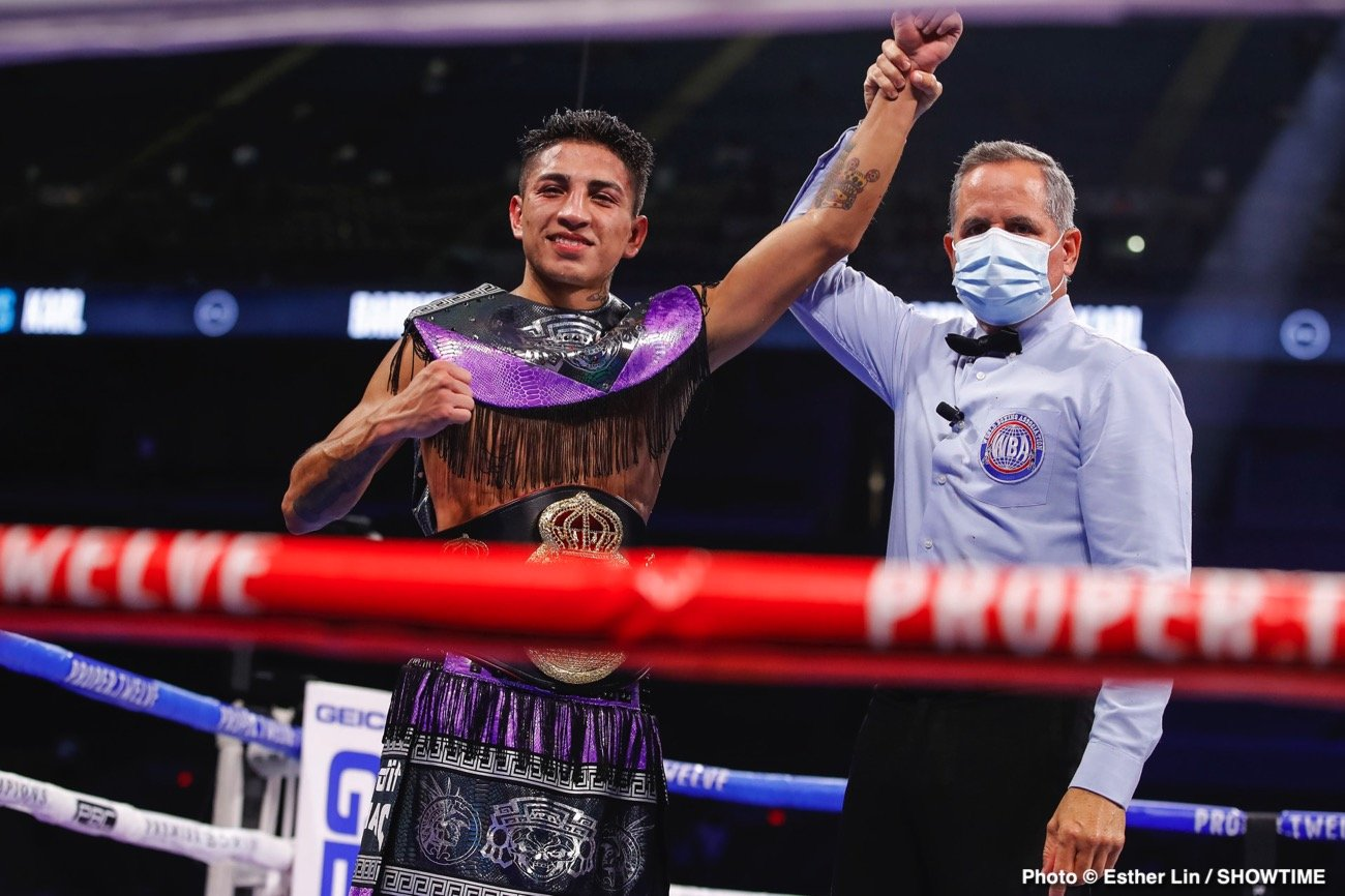 "Mario Barrios, Ryan Karl - MARIO BARRIOS: ""It took a minute to get used to his pressure, he was very awkward. I eventually found my rhythm as the rounds started progressing."