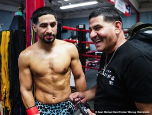 "Danny Garcia -  Two-division world champion Danny ""Swift"" Garcia showed off his skills and previewed his upcoming showdown against unified welterweight champion Errol ""The Truth"" Spence Jr. during a virtual media workout on Monday before they headline a FOX Sports PBC Pay-Per-View event on Saturday, December 5 from AT&T Stadium in Arlington, Texas."