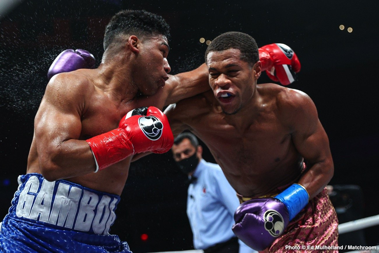 """Gervonta Davis, Teofimo Lopez, Terence Crawford - Terence Crawford believes that Devin Haney is the guy that could give lightweight champions Teofimo Lopez and Gervonta 'Tank' Davis real problems with his boxing ability. Crawford feels that Haney (25-0, 15 KOs) and undisputed lightweight champion Teofimo (16-0, 12 KOs) might have too much size for the 5'5"""" Tank."""