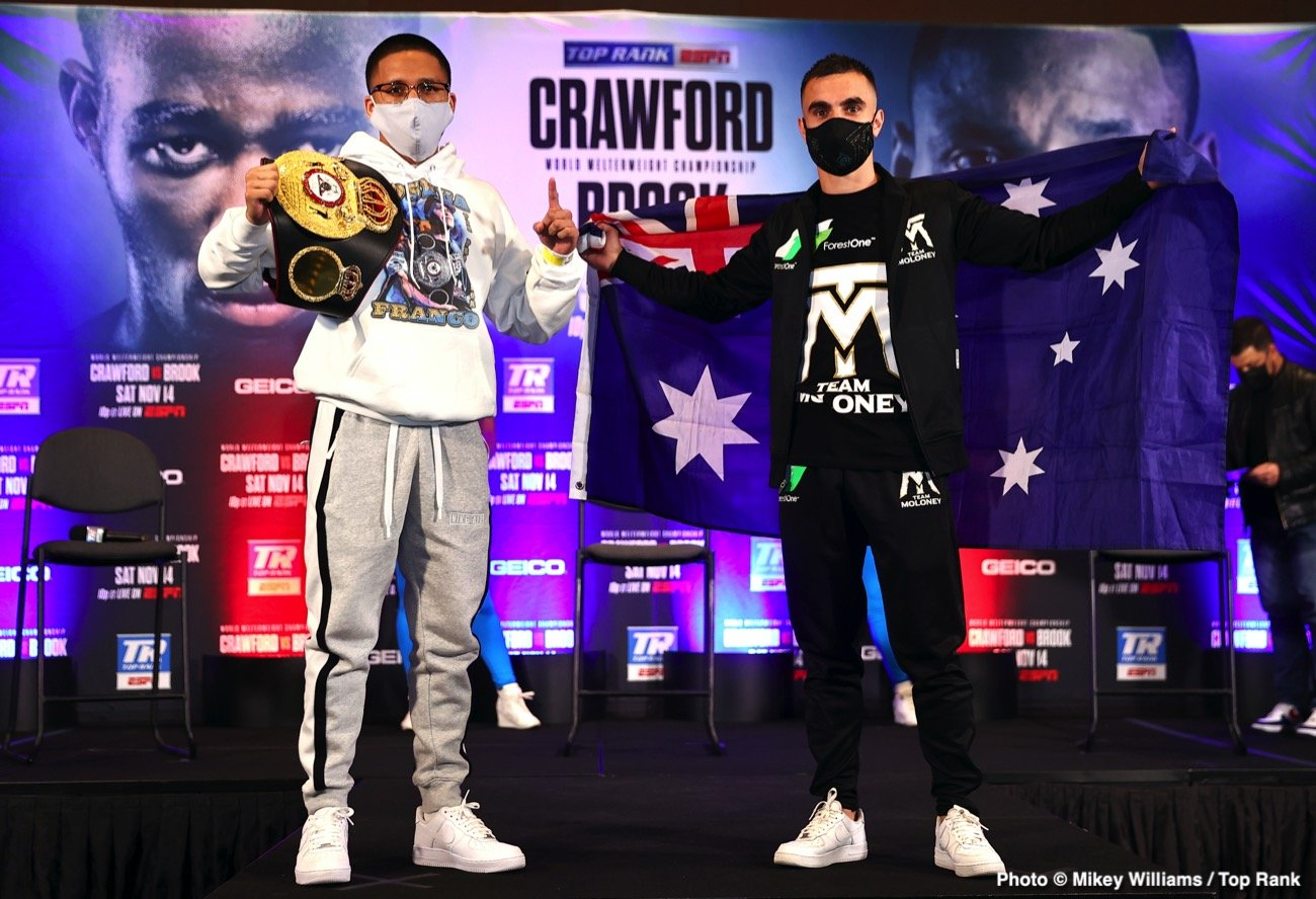 Andrew Moloney, Joshua Franco, Kell Brook, Terence Crawford - Boxing News