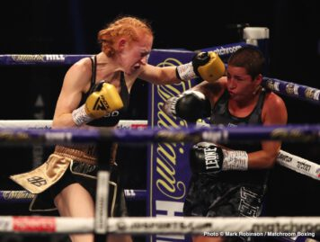 Katharina Thanderz, Katie Taylor, Miriam Gutiérrez, Terri Harper - Katie Taylor completely outclassed her WBA mandatory challenger Miriam Gutierrez to retain her Undisputed Lightweight World Titles at the top of the bill on a huge night for women's boxing.