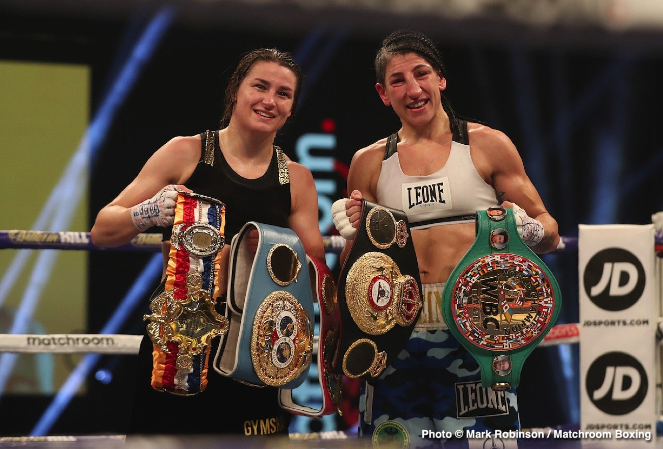 Katie Taylor - Irish icon Katie Taylor has been crowned The Ring Magazine's pound-for-pound number one women's fighter in the world following her brilliant Undisputed Lightweight World Title defense against Miriam Gutierrez at The SSE Arena, Wembley.