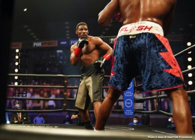 "Alexander Flores, Brian Howard, Frank Sanchez, Luis Ortiz - Top heavyweight contender Luis ""King Kong"" Ortiz (32-2, 27 KOs) impressed in his ring return Saturday night, knocking out Alexander ""The Great"" Flores (18-3-1, 16 KOs) in the first round of their FOX PBC Fight Night main event and on FOX Deportes from Microsoft Theater in Los Angeles."