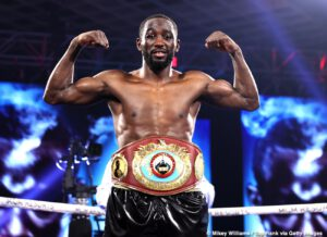 Terence Crawford - Saturday's Top Rank on ESPN saw pound-for-pound king Terence Crawford (37-0, 28 KOs) retain his WBO welterweight world title with a fourth-round TKO over former welterweight world champion Kell Brook, in the main event from the MGM Grand Hotel & Casino in Las Vegas.
