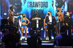 Kell Brook, Terence Crawford - Following an SEC College Football game Terence Crawford and Kell Brook lock horns this Saturday night in the main event on ESPN. For Terence, Kell represents the best opponent he will have faced at the welterweight division serving as a great measuring stick.