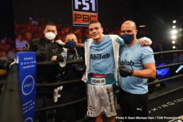 Amilcar Vidal, Edward Ortiz - Unbeaten middleweight Amilcar Vidal (12-0, 11 KOs) impressed with a quick second-round knockout of previously undefeated Edward Ortiz (11-1-2, 4 KOs) on Saturday night in the main event of FS1 PBC Fight Night and on FOX Deportes from the STAPLES Center in Los Angeles.