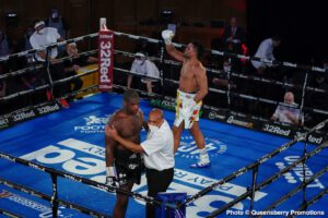 Daniel Dubois, Joe Joyce - Tonight in London, in the heavily hyped and anticipated heavyweight battle between unbeaten British contenders Joe Joyce and Daniel Dubois, it proved to be the boxing skill of older man Joyce that told the story.