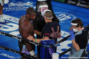 """Daniel Dubois, Joe Joyce - While the debate rages on as to whether or not Daniel Dubois should be referred to as a """"quitter,"""" due to what went down on Saturday night in Dubois' big fight with Joe Joyce, Dubois himself has released a short message to his fans."""