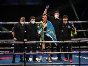 Tursynbay Kulakhmet - Kazakhstan superstar Tursynbay Kulakhmet won the WBC International super-welterweight title in just his second professional fight after a dominant victory over previously unbeaten Macaulay McGowan on Wednesday's #MTKFightNight.