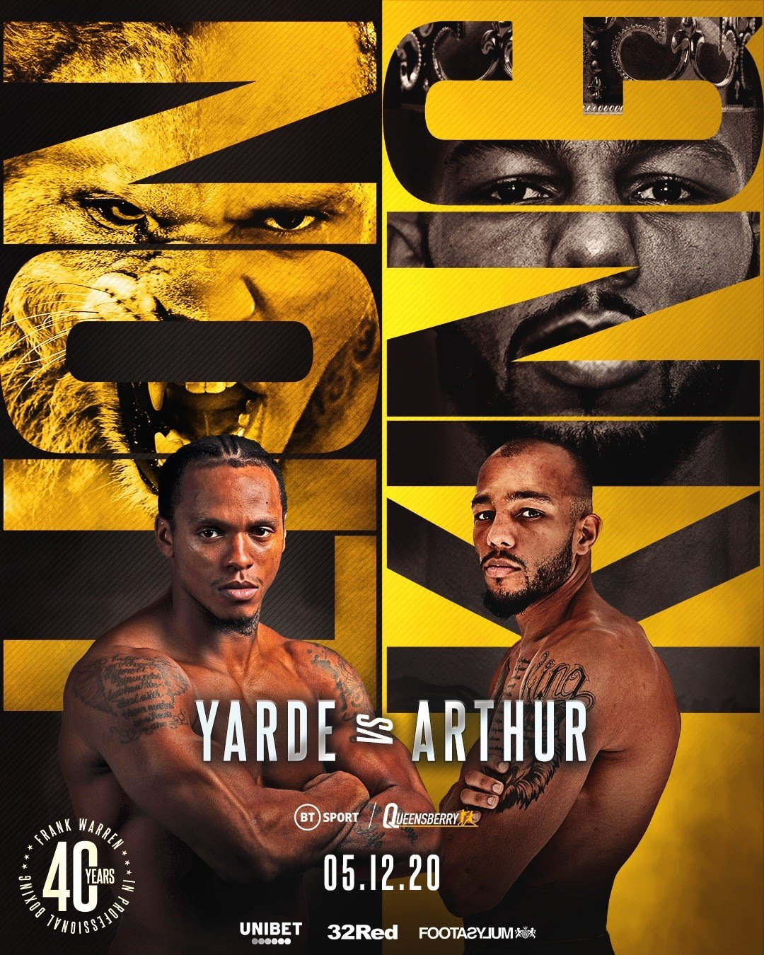 Anthony Yarde, Lyndon Arthur - LYNDON ARTHUR will make the second defense of his Commonwealth Light-Heavyweight championship against Anthony Yarde on Saturday, December 5, in another huge night of boxing on BT Sport.