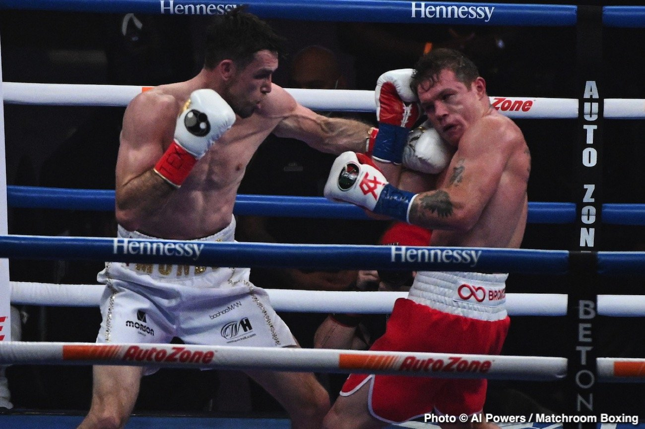 Callum Smith, Canelo Alvarez, Oscar De La Hoya - Boxing News