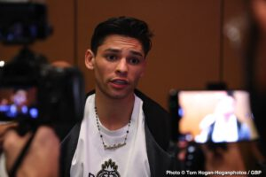 Ryan Garcia lectures Devin Haney, 'You need to get the fans excited'