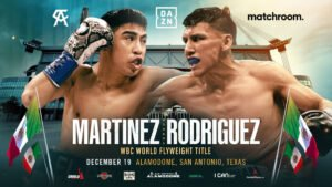 Julio Cesar Martinez - Julio Cesar Martinez will defend his WBC World Flyweight title against Francisco Rodriguez Jr on the undercard of Canelo Alvarez's World title clash with Callum Smith at the Alamodome in San Antonio, Texas on Saturday, December 19, live on DAZN in 200+ countries and territories worldwide and TV Azteca in Mexico.
