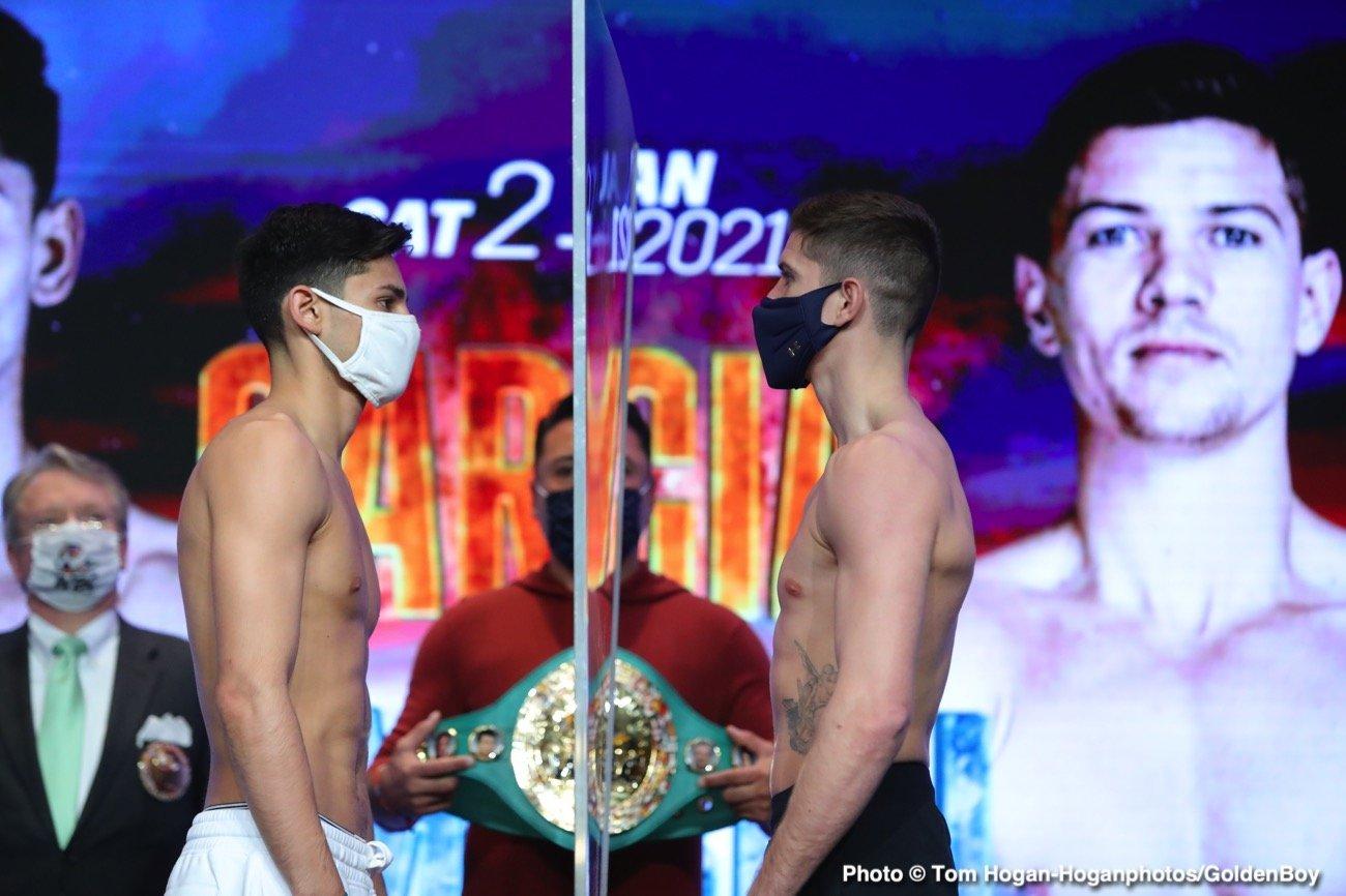 Deejay Kriel, Felix Alvarado, Luke Campbell, Roger Gutierrez, Ryan Garcia, Sean Garcia - Actualités de boxe