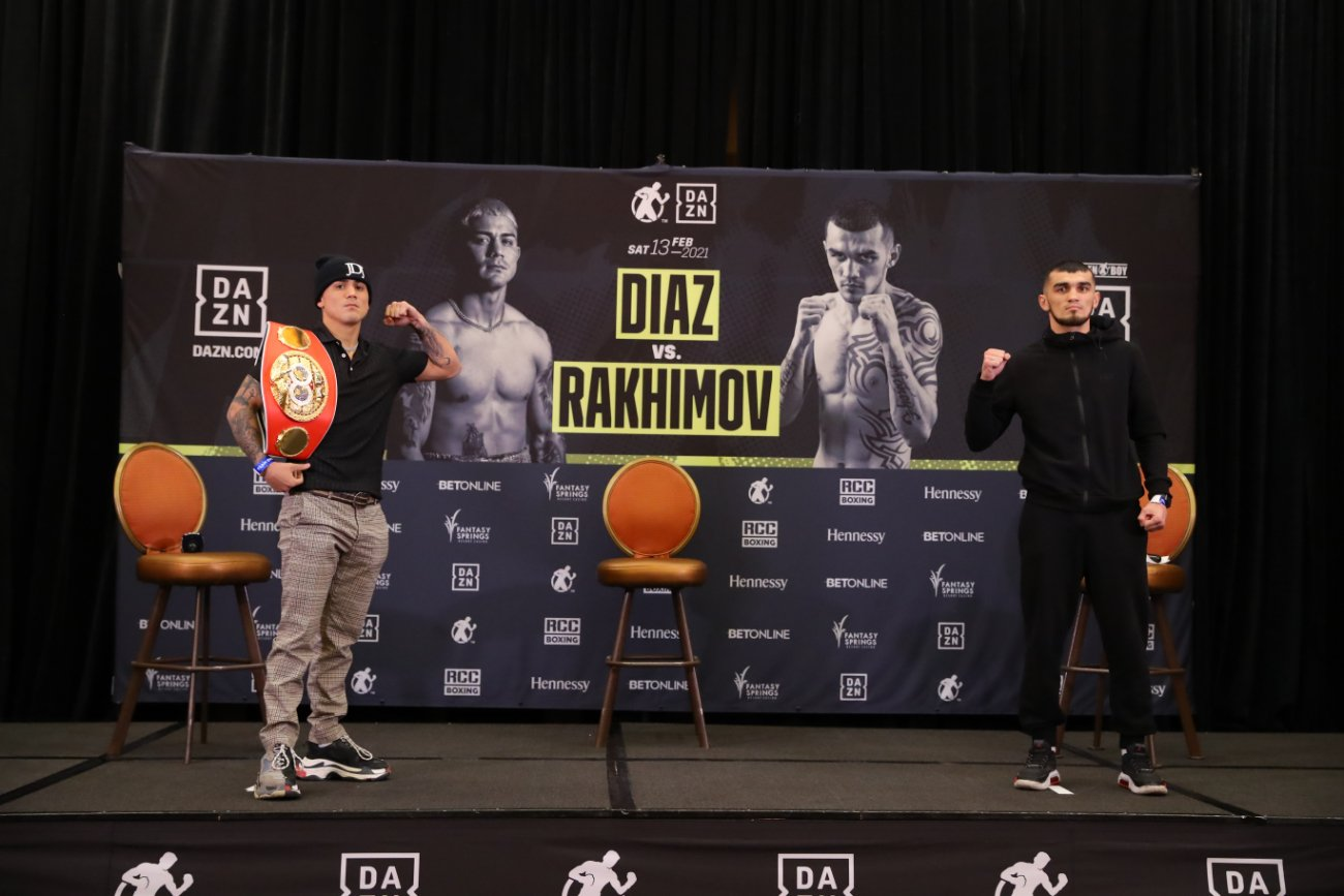 Joseph Diaz Jr, Shavkat Rakhimov - Press Room
