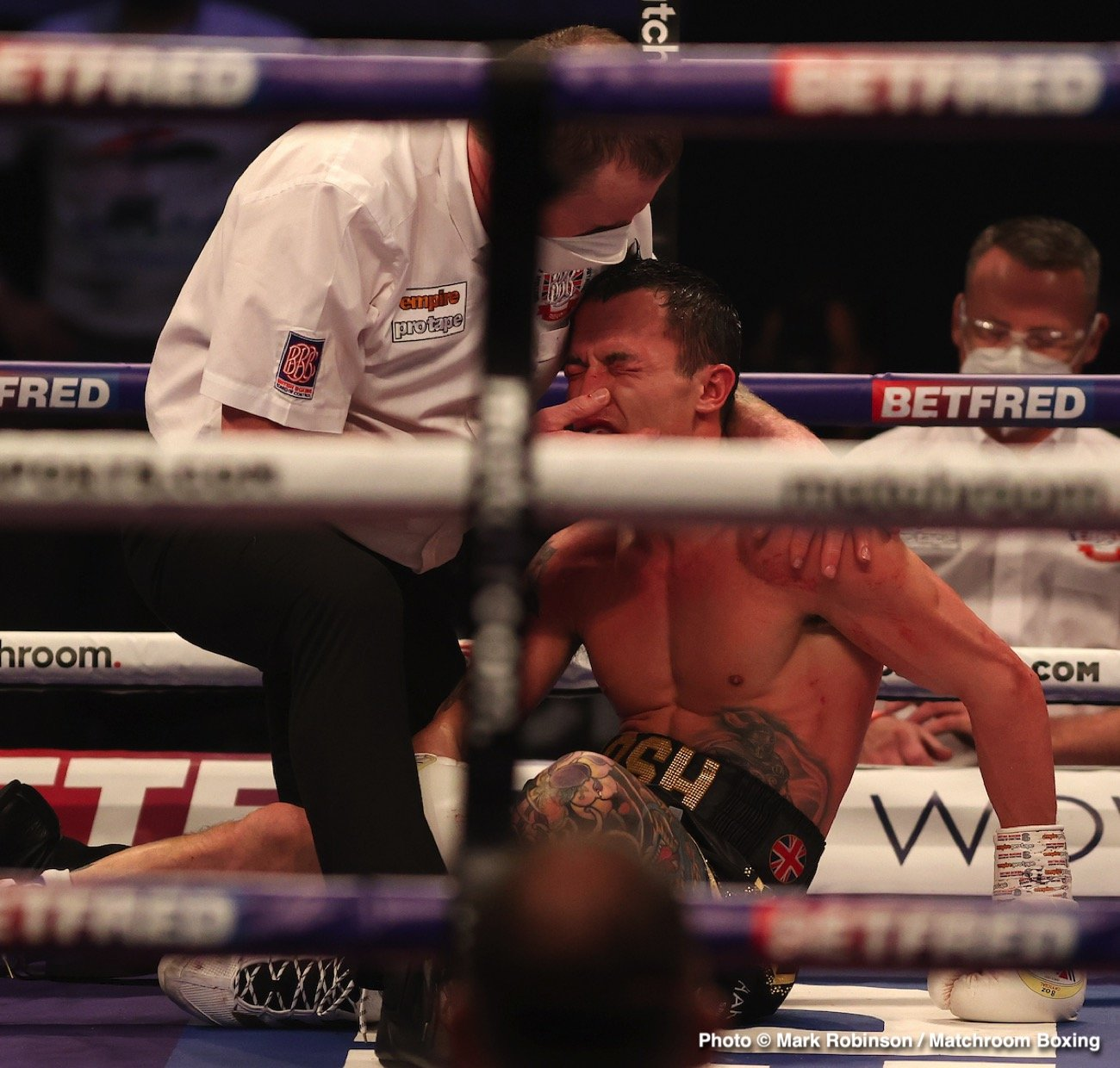 Eddie Hearn, Josh Warrington, Mauricio Lara - Boxing News