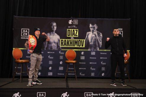 Joseph Diaz Jr, Shavkat Rakhimov - Press Room