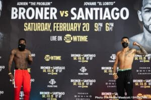 Adrien Broner looks drained making weight for Jovanie Santiago fght