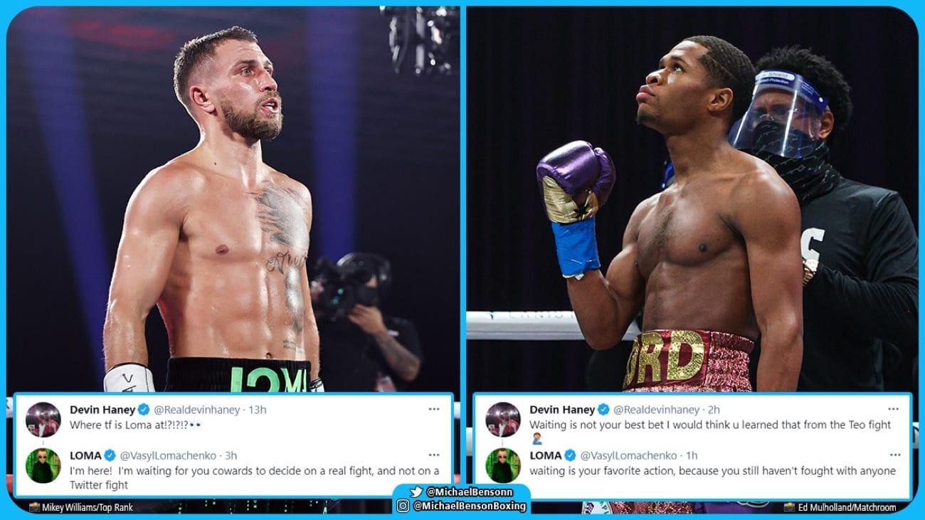 Devin Haney, Vasiliy Lomachenko - Boxing News