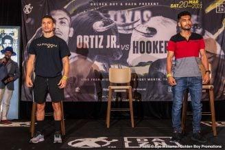 Maurice Hooker, Oscar De La Hoya, Vergil Ortiz Jr. - Press Room