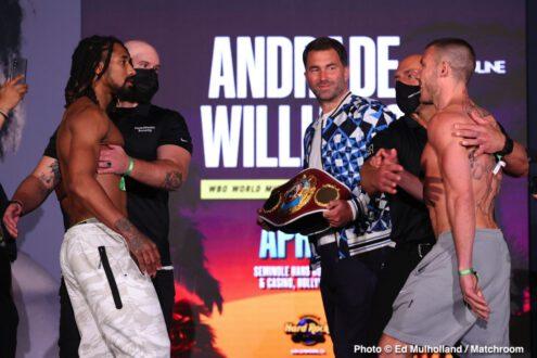 Aaron Aponte, Carlos Góngora, Christopher Pearson, Demetrius Andrade, Liam Williams, Mahammadrasul Majidov - Boxing News