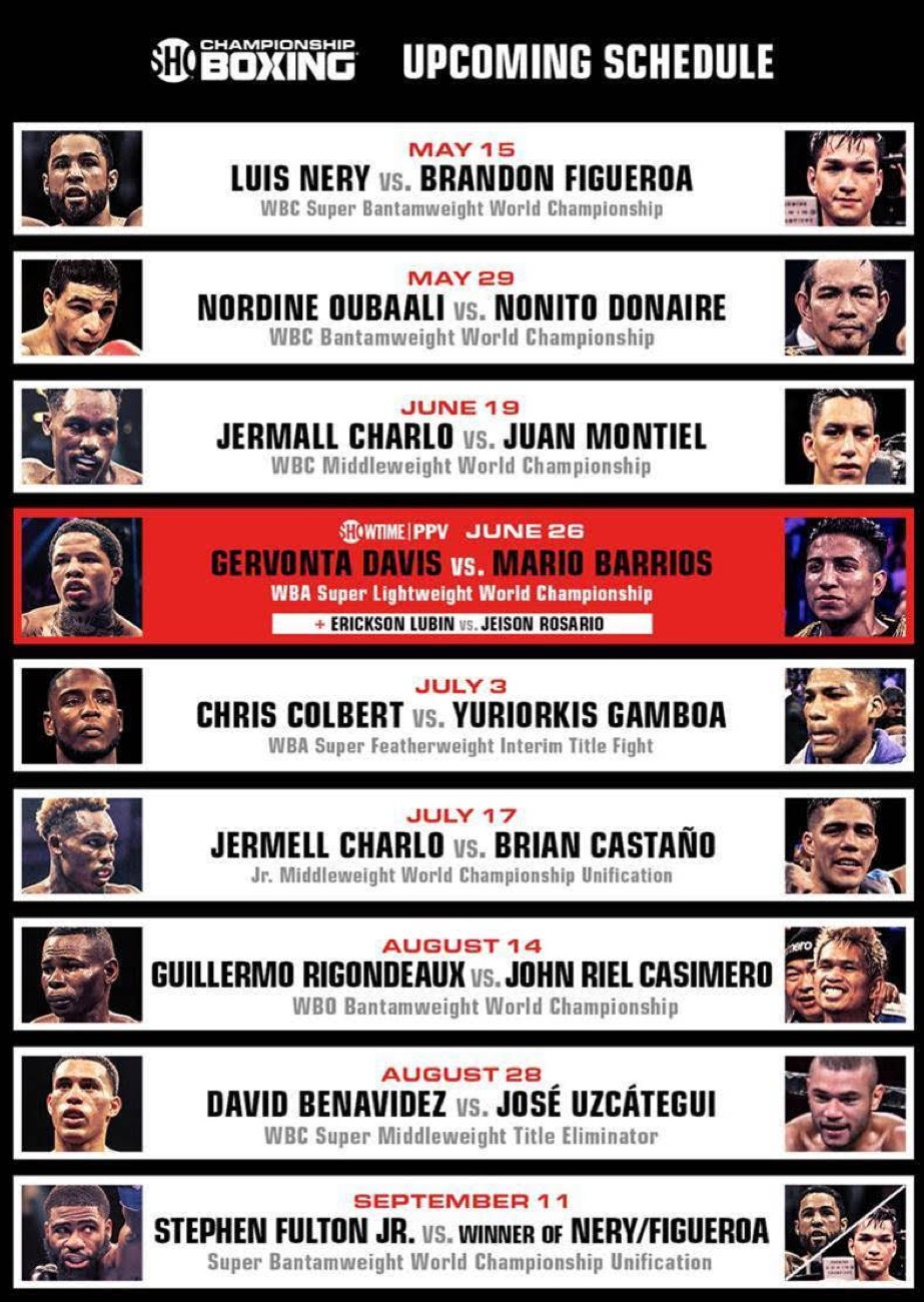 David Benavidez, Gervonta Davis, Guillermo Rigondeau, Jermall Charlo, Jermell Charlo, Nonito Donaire - Boxing News