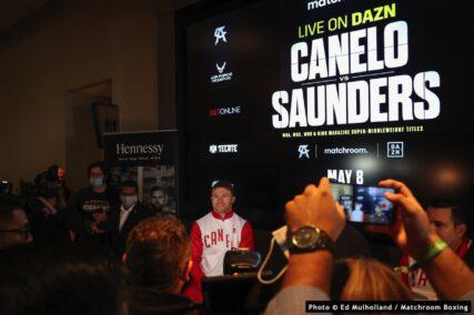 Billy Joe Saunders, Canelo Alvarez - Press Room