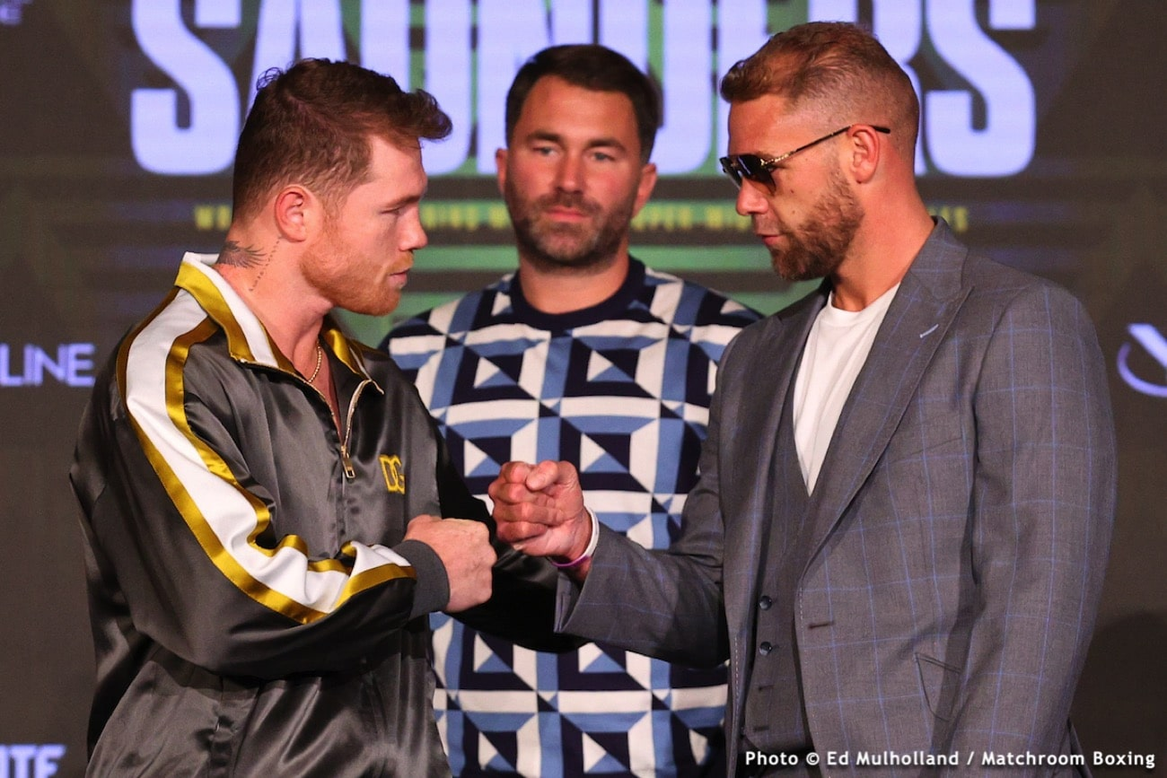 Billy Joe Saunders, Canelo Alvarez, Eddie Hearn - Boxing News