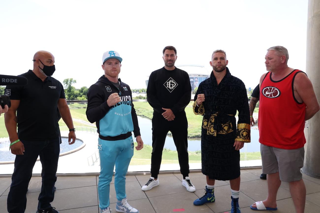 Billy Joe Saunders, Canelo Alvarez, Eddy Reynoso - Boxing News