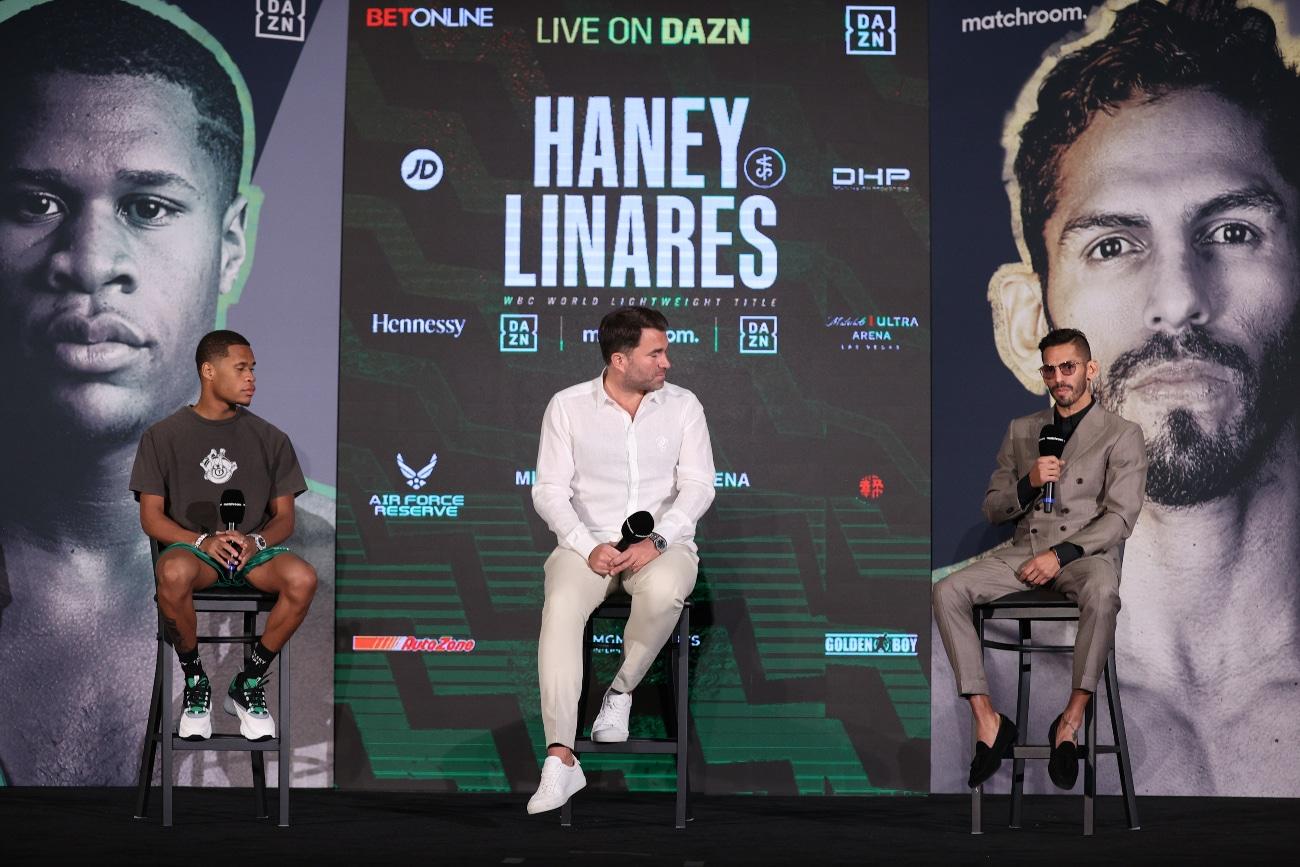 Devin Haney, Jorge Linares - Press Room