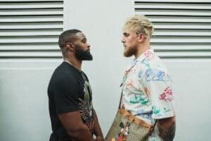 Jake Paul & Tyron Woodley behind the scenes face-off