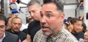 "De La Hoya tells Canelo Alvarez: ""I'm coming for you, will f***g knock your a** out!"""