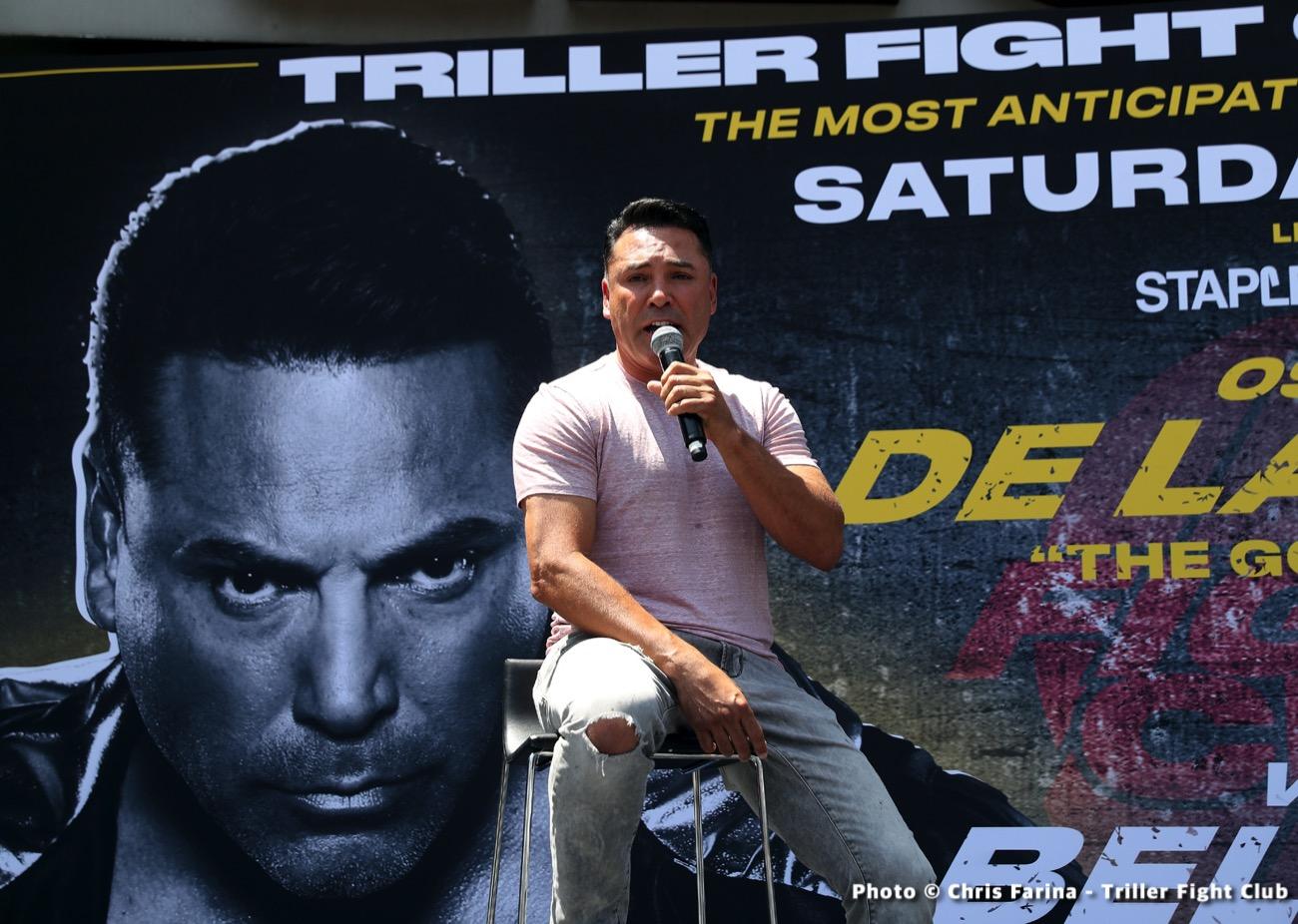 Evander Holyfield, Oscar De La Hoya, Triller, Vitor Belfort - Boxing News