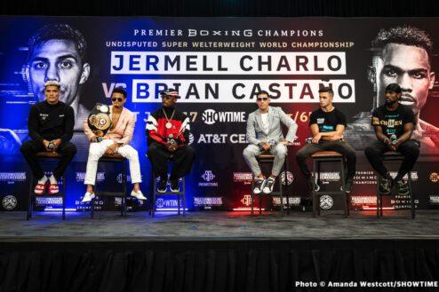 Anthony Yigit, Brian Carlos Castaño, Jermell Charlo, Rolando Romero, Stephen Espinoza - Press Room