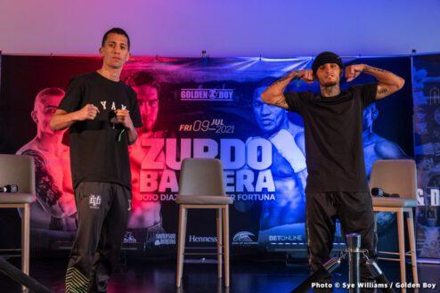 "Gilberto ""Zurdo"" Ramirez, Sullivan Barrera - Press Room"