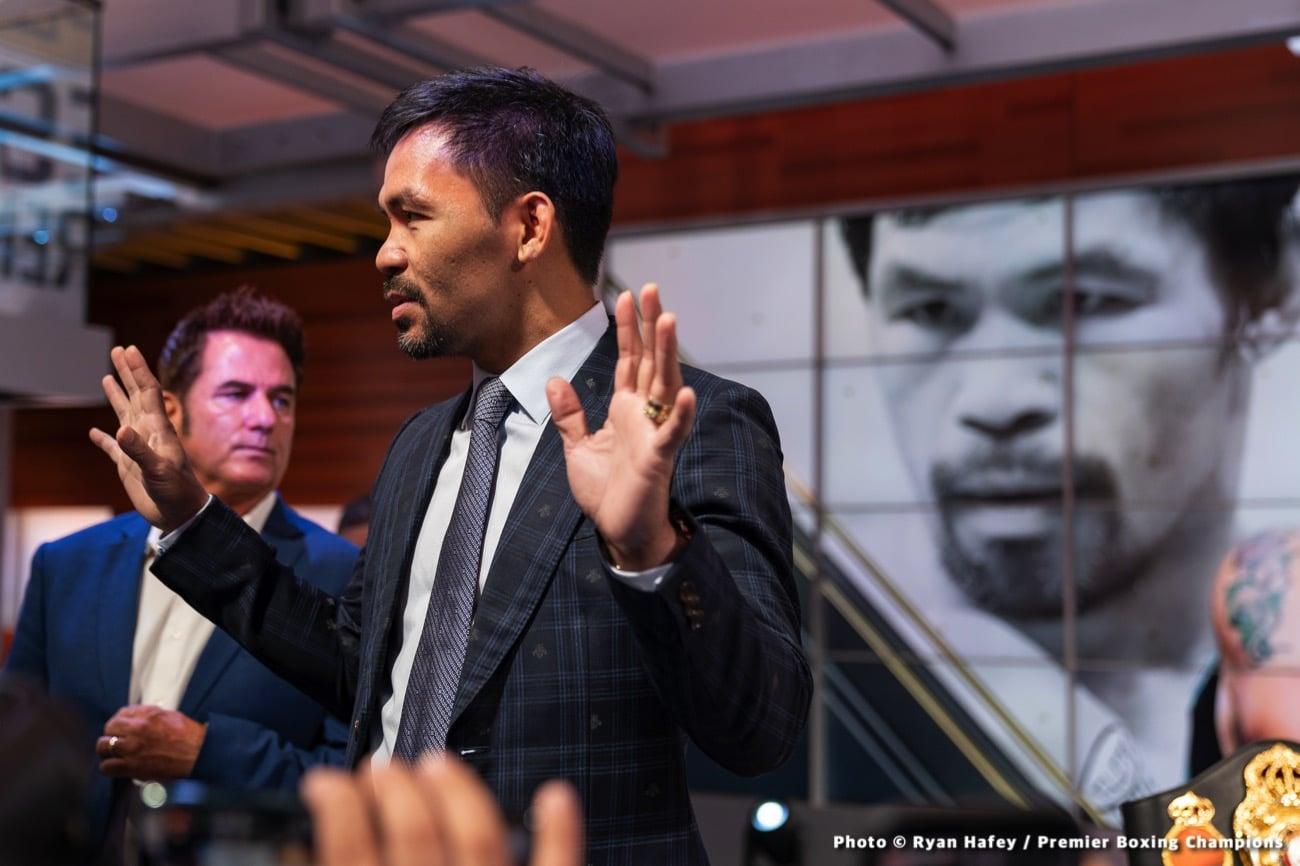 Manny Pacquiao, Yordenis Ugas - Press Room